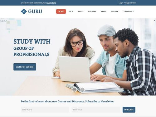 Guru-Learning-Management-System-wordpress-Theme